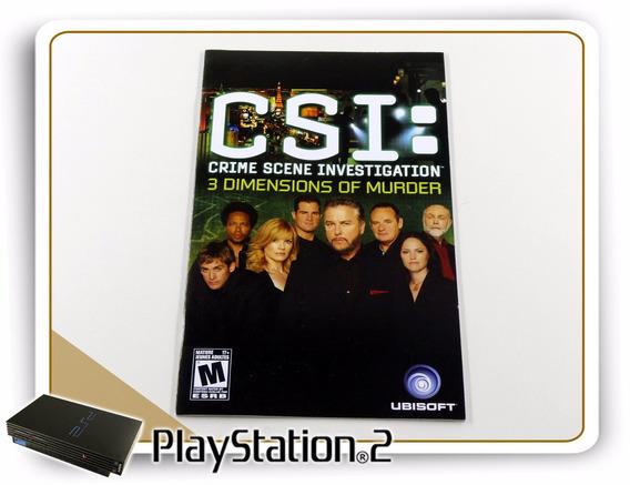 Ps2 Manual Csi 3 Dimmensions Original Playstation 2