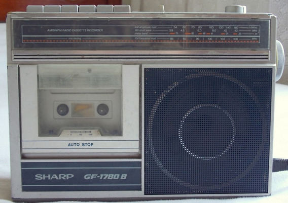 Rádio Gravador Sharp Gf 1780 B