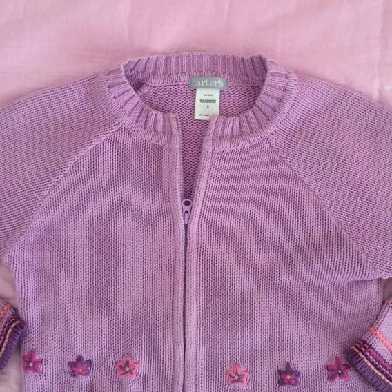 Carters Saco Saquito Sweater Bordado Modelo Cheeky T.4/5