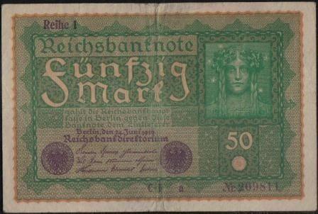 Alemania, 50 Mark 24 Jun 1919 P66