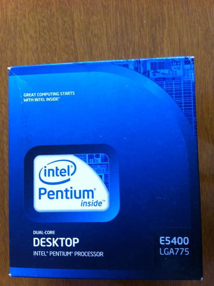 Processador Intel Pentium Dual Core E5400 + Cooler + Frete