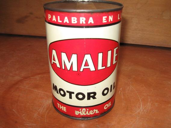 Antigua Lata De Aceite Amalie De 1 Litro