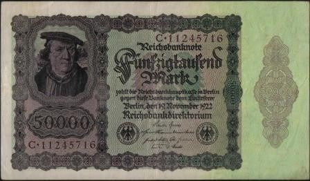 Alemania, 50000 Mark 19 Nov 1922 P78