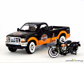 Ford F350 Pickup + Harley Davidson El Knucklehead 1:24 Maist