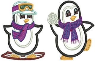 Pinguins Baby Ap - 24 Matrizes De Bordados Comp - Via Email