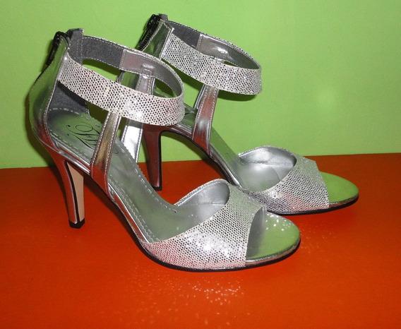 Zapatos Sandalias Gliter Plata Nº 35