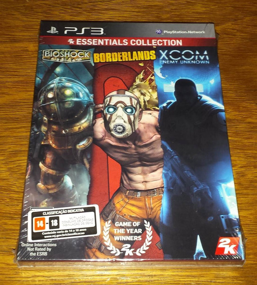 Bioshock + Borderlands + Xcom Enemy Unknown Mídia Física