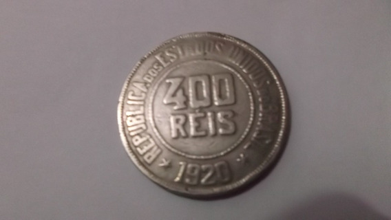 Moeda 400 Réis Brasileiro De 1920