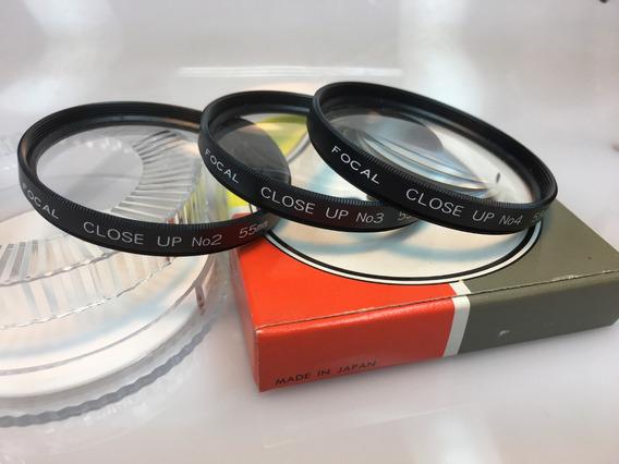 Conjunto Filtros Close-up No.2 No.3 E No.4 55mm