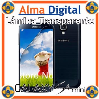 Lamina Protetor Pantalla Transparente Samsung S4 Mini Siv