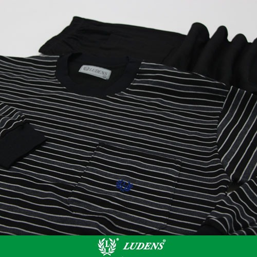 Art514 Pijama Casaca Rayada / Pantalón Liso - Ludens