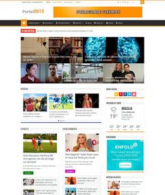 Tema Portal De Notícias Intalado E Frete Grátis