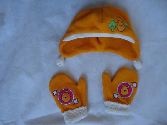 Chapéu/gorro + Luvinhas Infantil Do Pooh Disney Store