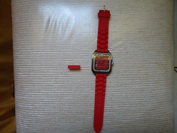 Relógio Feminino De Pulso Vermelho C/ Caixa