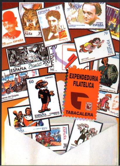 España. Tarjeta Expendeduria Filatélica De Tabacalera