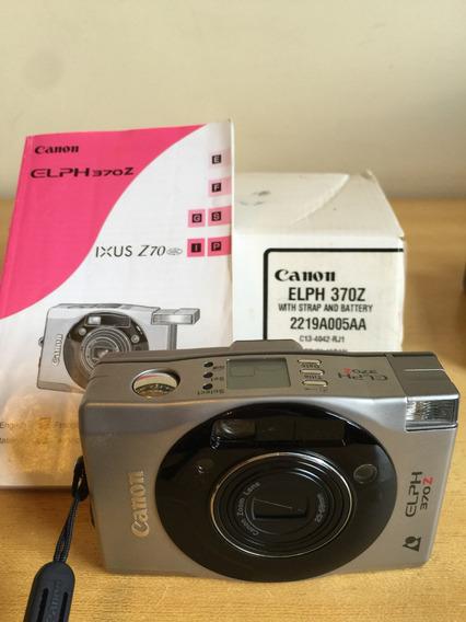 Camera Cannon Analogica Elph 370 Z Raridade