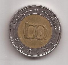 Hungria Moneda De 100 Forint Bimetalica Año 1998 !!!
