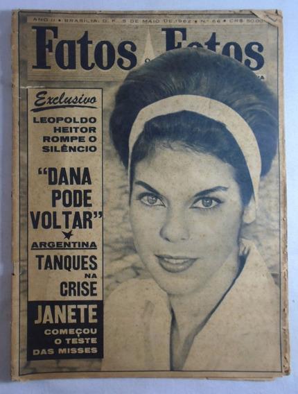 Revista Fatos E Fotos Pelé N°66 1962