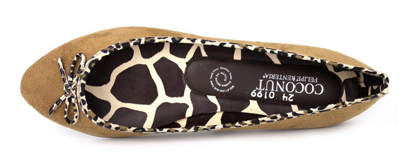 Flats Animal Print Camel Dama Super Cómodos 24mx C35