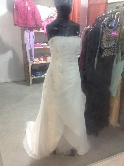 Vestido De Novia O Cumple 15 Talle S. Canutillos Bordados