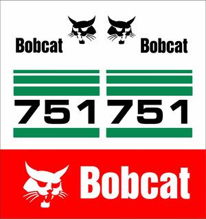 Adesivos Mini Carregadeira Bobcat 751 Kit Completo Mk