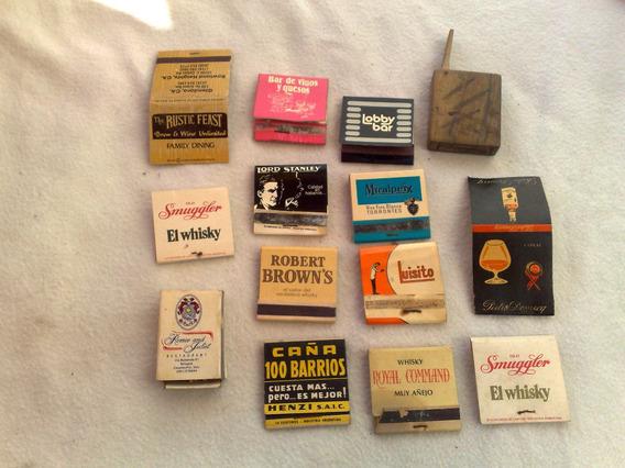 Fosforos Publicidad Whisky,caña Cien Barrios ,.lote Nº 6