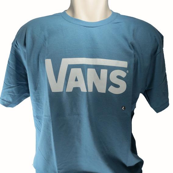 Camisa Vans Masculina Azul Claro Original