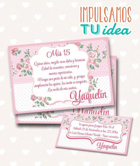 Tarjeta De 15 Para Imprimir - Invitación Y Personal Yaquelin