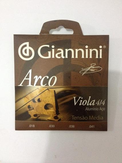 Encordoamento Giannini Viola De Arco 4/4 Alumínio/aço Media
