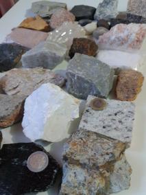 Kit Coleção De Rochas E Minerais Com 30 Unidades Geologia