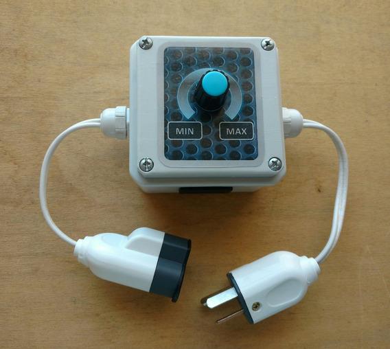 Atenuador Dimmer Regulador De Potencia Enchufable De 1200w