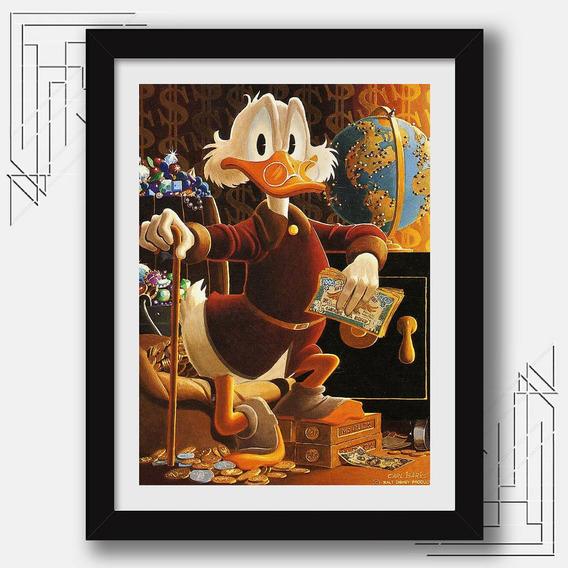 Quadro Tio Patinhas Duck Tales Vintage M42 Decoracao Moldura