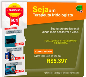 Kit Iridologia K1: Curso + Software + Aparelho Usb2017 M1