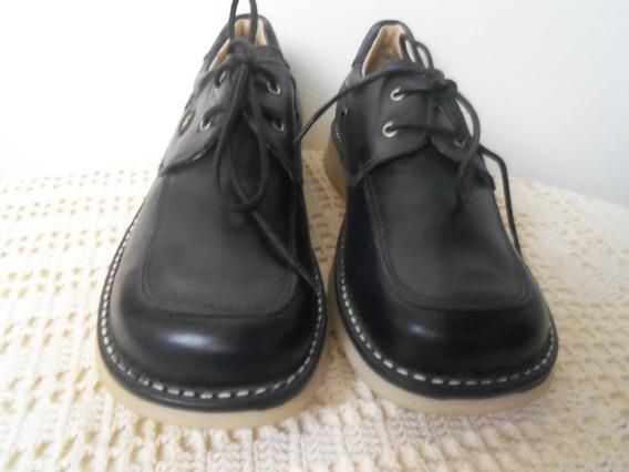 Zapatos De Cuero Nauticos Nro. 34