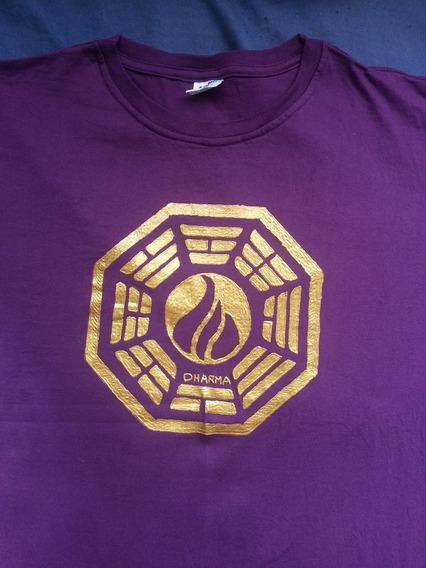 Camisa Logo Iniciativa Dharma Lost - Leio O Anuncio
