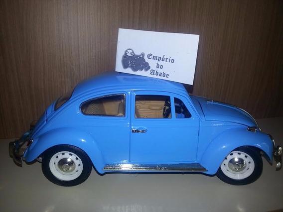 Fusca Azul Claro Escala 1/18 23x8x9cm Roda Original