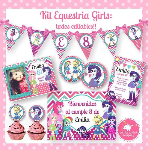 Kit Imprimible Equestria Girls Pequeño Ponny