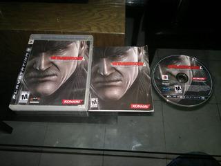 Metal Gear Solid Iv Guns Of Patriots Para Play Station 3,