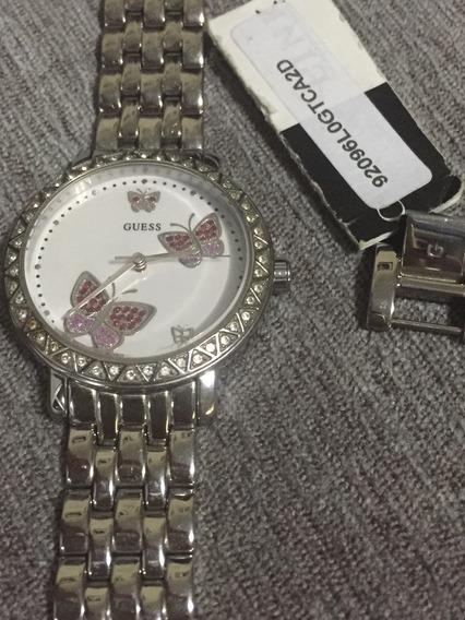 Relógio Prata Com Detalhes Em Cristais - Original Guess
