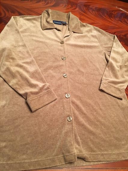 Camisa De Plush Beish Talle M Importada Y Suave