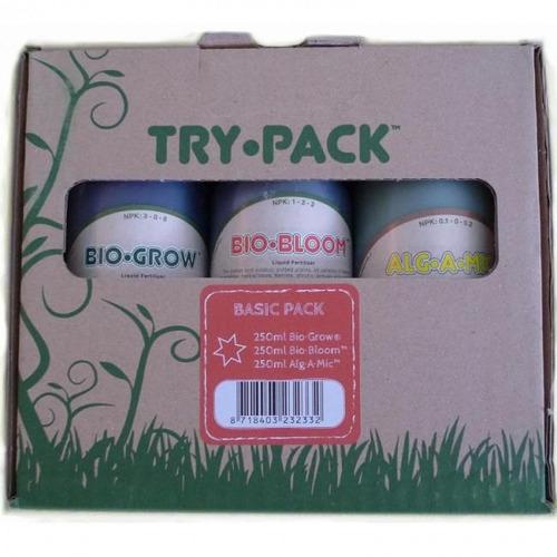 Imagem 1 de 6 de Kit Fertilizantes Biobizz Try Pack Basic250ml