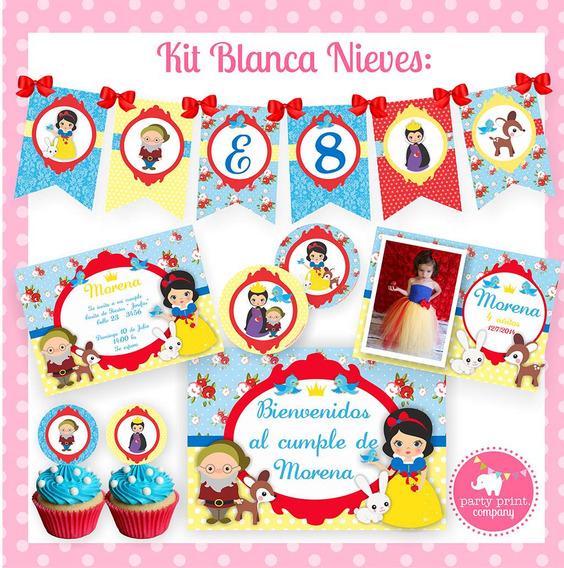 Kit Imprimible Blanca Nieves
