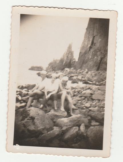 Foto Antiga - Imagem Da Praia Da Guarita - Torres - 1950- Ab