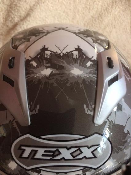 Capacete Texx Flash Fibra De Vidro Branco 56 Inpecável