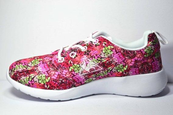 Zapatillas Le Coq Sportif Ione Flower Mujer Fucsia Combinado
