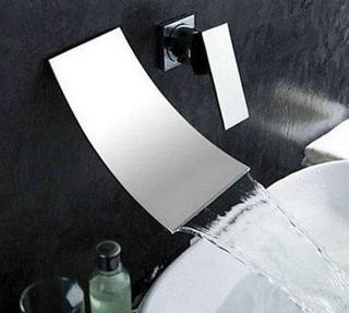 Llave Grifo Lavabo Baño O Tina Pared Monomando Muro Pared