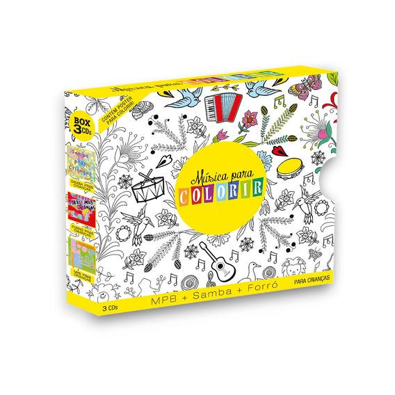 Box Musica Para Colorir ( 3 Cds) *novo/lacrado*