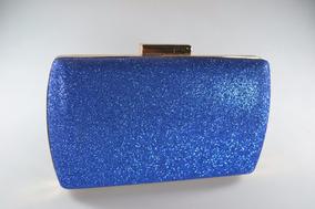 8dd61763e Bolsa Carteira Clutch De Festa Azul Turquesa Pa Te Prata - Calçados ...