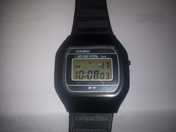 Relógio Casio F-7 Original Japan Único Dono Raro Exc.estado