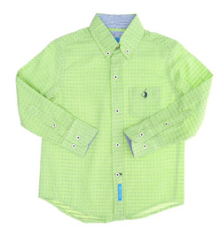 Polo Club Camisa Casual Niño T 16 Cuadros C343 -c344